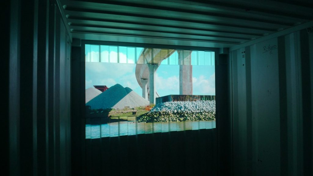 Lulu Suite Island - Video Installation / Projection with Sound in Shipping Container | Deanne Achong