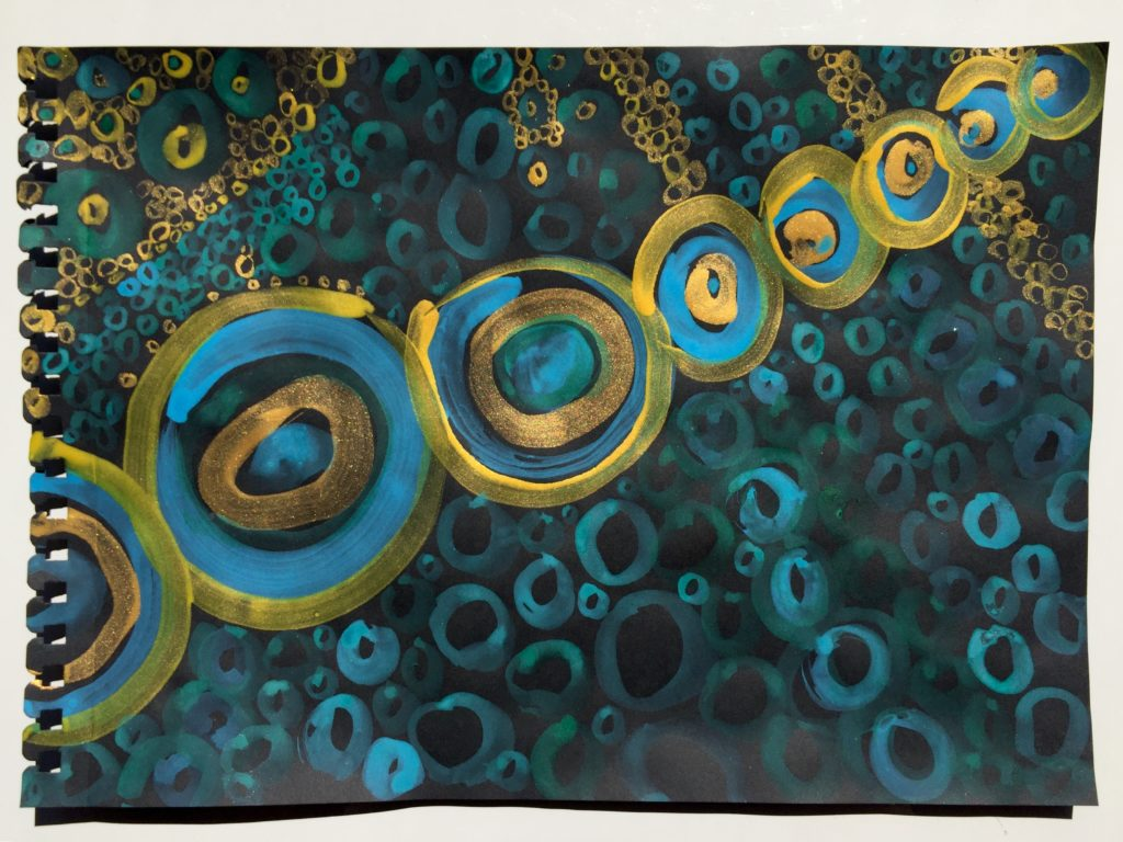 Enso drawing by Deanne Achong